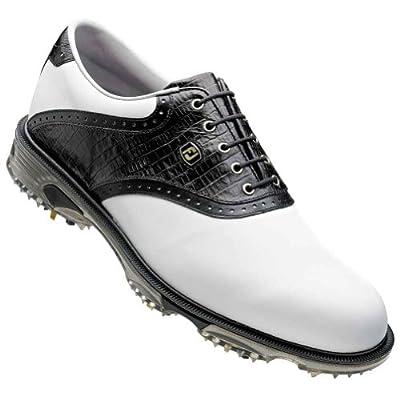 NEW FootJoy DryJoy Tour Men's Golf Shoe | White/Black Lizard | All Sizes