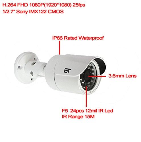 1920*1080P Sony 1/2.7'' 2.0 Megapixel Cmos Onvif P2P Waterproof Outdoor Night Vision Mini Cctv Bullet Ip Camera Gt-803