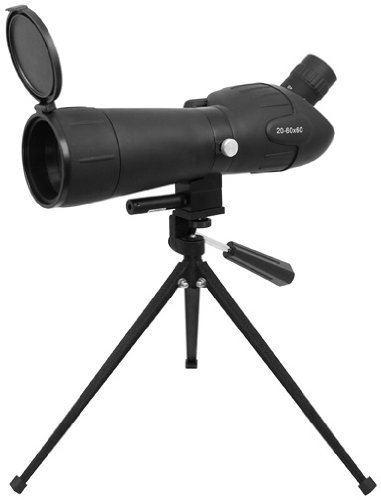 20-60 X 60 Green Lens Red Laser Spotting Scope with Tripod and Sun Shade Flip Cover by Golden Eye Tactical (Sun Shade For Nikon Scope compare prices)