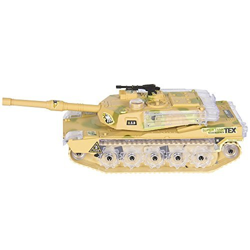 Military Army Tank Flashing Lights and Sound Bump Action Kids Toy (Missile Balloons For Your Car compare prices)