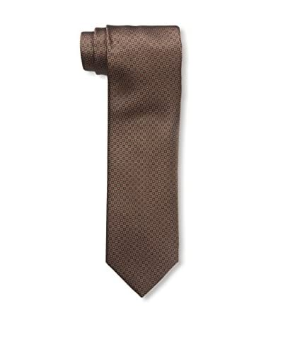Ermenegildo Zegna Men's Patterned Silk Tie, Brown