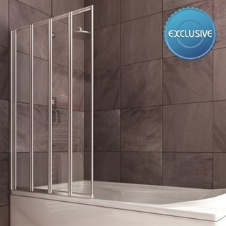 Infinity 4 Panel Folding Bath Screen