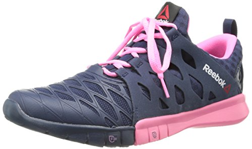 Reebok Women's Reebok ZRX TR Cross-Training Shoe,Collegiate Navy/Electro Pink/Happy Pink,8.5 M US Reebok B00HNB7XDQ