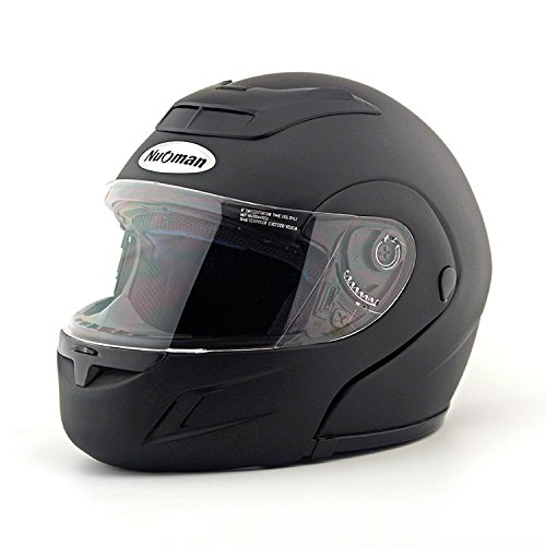 Modular Full Face Motorcycle Helmet Street Bike Racing Motorbike Helmet with Flip Up Clear Visor Shield, DOT Certified (XL, Matt Black) (Military Modular Headset compare prices)