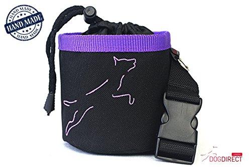 Bild: Leckerlitasche mit GürtelFutterbeutel für HundBelohnungen Bunt Authentisch aus DogDirect London Schwarzviolett C5