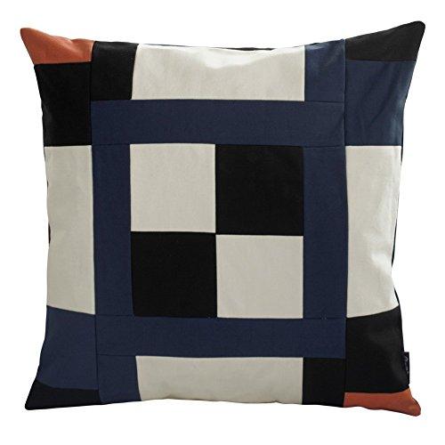 [Schwarze Serie] handgemachte dekorative Kissen einzigartigen Gitterkissen 48cm