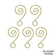 Darice Scroll Wire Ornament Hook Add a Bead – 2″ GOLD 6pk/108pcs.