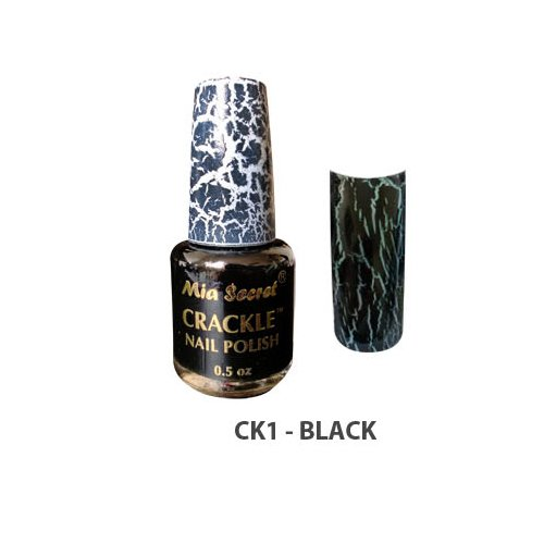 Mia Secret Crackle Nail Polish Black 0.5oz (CK1)
