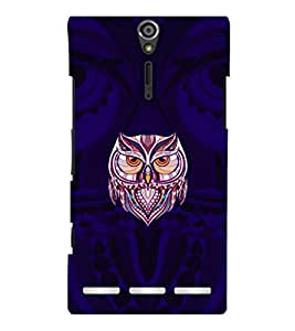 printtech Owl Cool Back Case Cover for Sony Xperia S Lt26i
