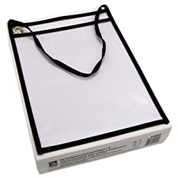 C-Line - Shop Ticket Holder with Strap, Black, Stitched, Both Sides Clear, 9 x 12, 15/BX 41922 (DMi BX