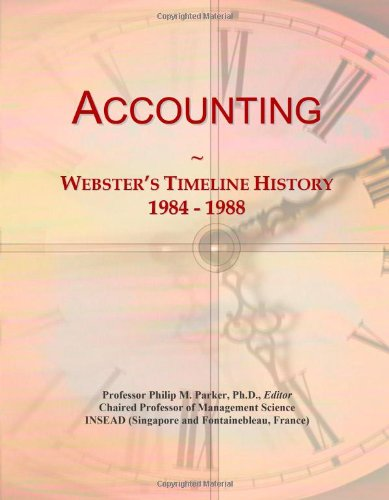 Accounting: Webster's Timeline History, 1984 - 1988