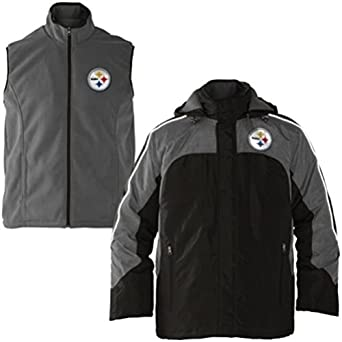 Buy GIII NFL Pittsburgh Steelers 4-3 Defense System Hooded Jacket & Vest XL by G-III Sports