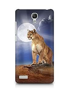 Amez designer printed 3d premium high quality back case cover for Xiaomi Redmi Note 4G (Lion photo iPhone 6 )