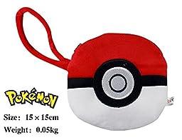 April Hairston Pokemon Poke Ball Plush Coin Bag with Hand Strap