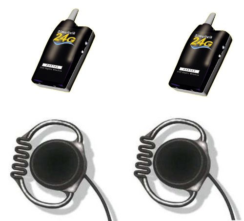 Simultalk 24G Wireless System For Referees, Coaches And Sports Teams - Two Loop Headsets
