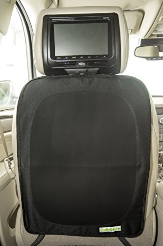 Premium Car Seat Back Protector - Kick Mat, Stain and Kid Proof Seat Cover, By Cubgear, Black
