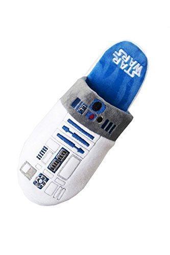 Ufficiale Disney Star Wars Nuovo Da Uomo R2D2 Droidi Sabot suola antiscivolo Pantofole - Bianco, UK 8-10 - EU 42-45 - US 9-11
