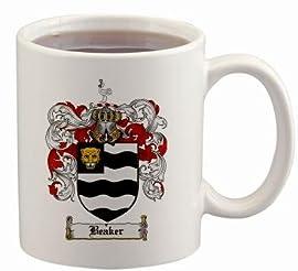 Beaker Coat of Arms Mug / Family Crest 11 ounce cup