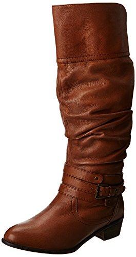 Steve Madden Women'S Casstro Slouch Boot,Cognac,7.5 M Us front-847759