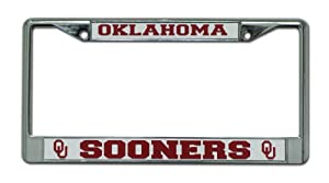 Buy NCAA Oklahoma Sooners Chrome License Plate Frame by Rico