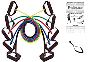 ProSource 48-Inch Premium Latex Resistance Exercise Band Set (Set of Five) from ProSource