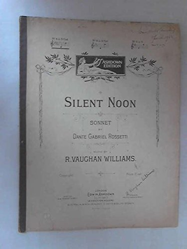 Silent Noon (Silent Noon Sheet Music compare prices)