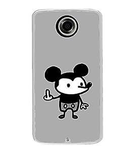 Funny Cartoon 2D Hard Polycarbonate Designer Back Case Cover for Motorola Nexus 6 :: Motorola Nexus X :: Motorola Moto X Pro :: Motorola Google Nexus 6