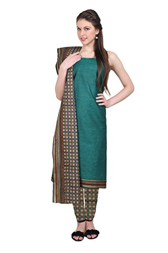 Aryahi Women's Cotton Dress Material (70439_Green ...