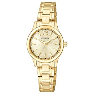 Citizen EL3032-53P women's small round face all gold