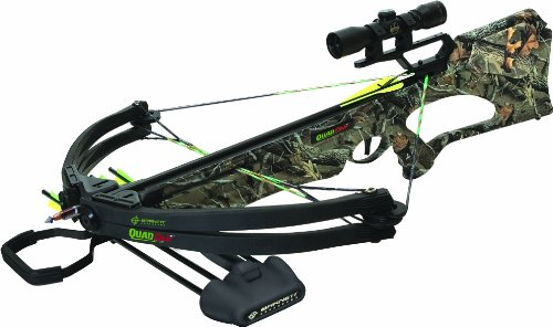 Barnett Quad 400 AVi Crossbow Package (Quiver, 3 - 22-Inch Arrows and Premium Red Dot Sight)
