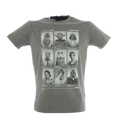CHUNK 'Class Of '77' Men's Star-Wars Graphic Funny Print T-Shirt Grey L