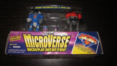 Microverse : Superman Kryptonian Battle Suit Vs Lexoskel - 5000 - 1