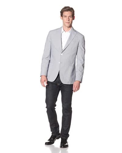 Domenico Vacca Men's Micro Houndstooth Jacket  [Grey]