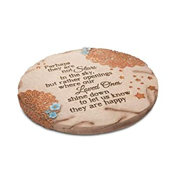 Pavilion Gift Company 19058 Light Your Way Memorial Garden Stone, 10-Inch, Stars in The Sky