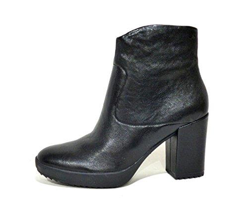 Stonefly Second Skin 103540 stivaletto tronchetto alla caviglia donna in pelle nero con tacco alto e grosso n° 39