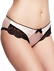 Limited Collection Floral Lace Brazilian Knickers with Silk