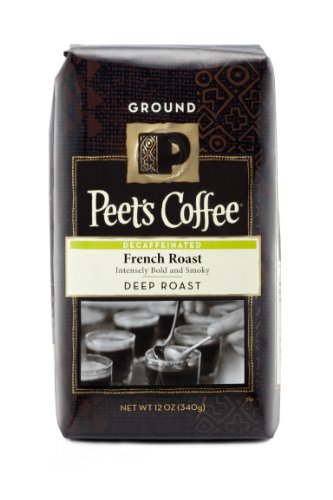 Peet's Ground Coffee, Decaf French Roast, 12-Ounce (Amazon Coffee Beans compare prices)