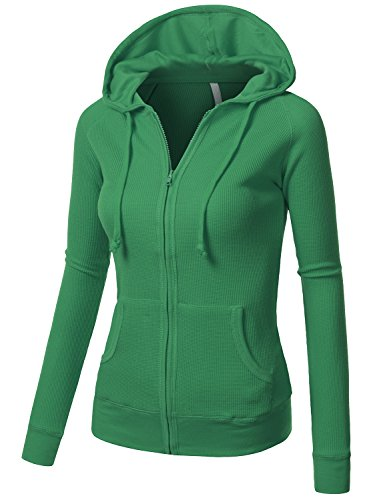 Kelly green zip up hoodie