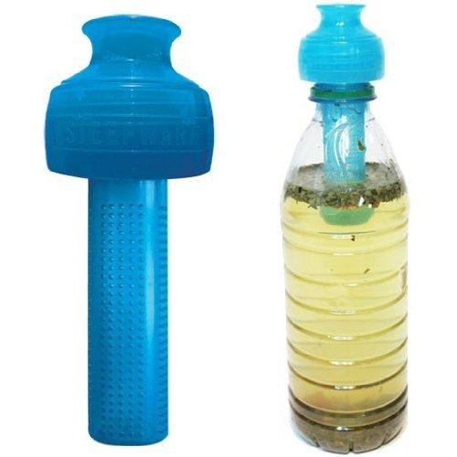 The Teaspot Steep & Go Water Bottle Cold Brew Tea Infuser / Steeper (Ocean Blue)