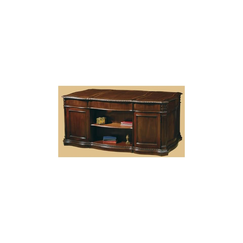 Hekman Furniture Executive Desk In Old World Walnut Burl