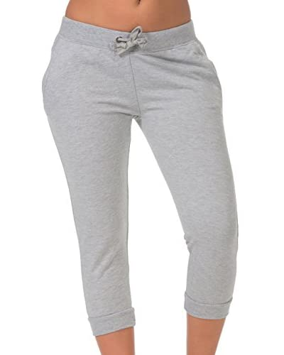 Coco Limon Women's Solid Jog Capri Pant with Pockets