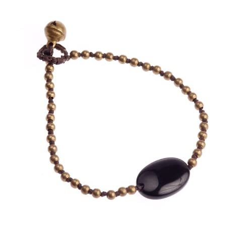 Oi-Boutique-Onyx-and-Brass-on-Wax-Cotton-Bracelet-of-19cm