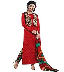 Lakshmi Fashion Creation Women's Cotton Dress Material ( Orange )