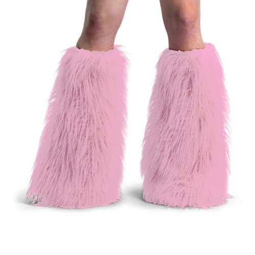 Women's Boot COVERS Sexy Faux Fur Boot SLEEVE Theatre Costumes Accessory Baby Pink