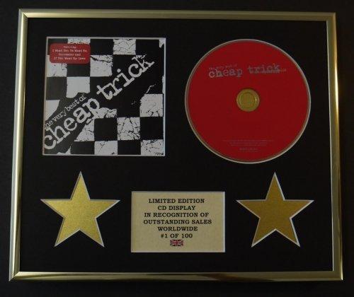 CHEAP TRICK/CD Display/Limitata Edizione/Certificato di autenticità/THE VERY BEST OF