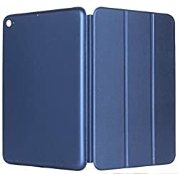 Xiaomi Mi Pad 2 Smart Case Cover,Leather Stand Smart Flip Case Cover For Xiaomi Mi Pad 2 MiPad 2 Smart Case Cover {METALLiC BLUE} Get Designer Metal TIN FREE!