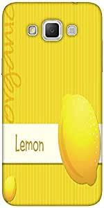 Snoogg bright organic lemon card in vector format Hard Back Case Cover Shield For Samsung Galaxy Grand Max