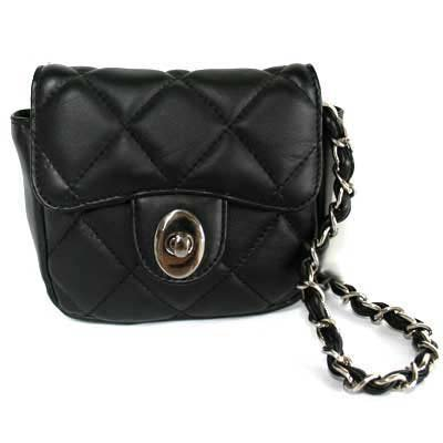Buy SMALL BLACK QUILTED CLUTCH HANDBAG WITH CHAIN STRAP