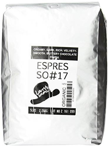 Larry'S Beans Fair Trade Organic Coffee, Espresso #17, Whole Bean, 5-Pound Bag
