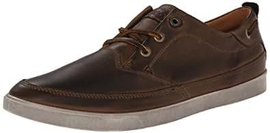 ECCO Men's Collin Nautical Sneaker Oxford, Camel/Cocoa Brown, 42 EU/8-8.5 M US